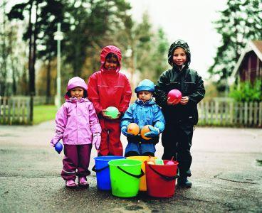 regenoutfit für kleine kinder